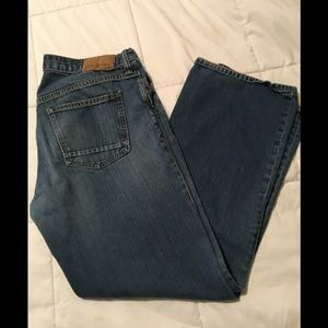Old navy distressed blue jeans/ bootcut